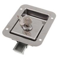 RV Paddle Entry Door Lock Latch Handle Knob Deadbolt with 2 Keys 1PCS