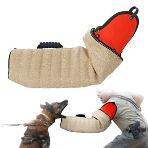 Jute K9 Dogs Bite Sleeve Training Biting Arm Shoulder Protection for Schutzhund