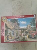 RAVENSBURGER SCHMID 1000 PIECE JIGSAW PUZZLE NEW IN A SEALED BOX - A NEW THATCH