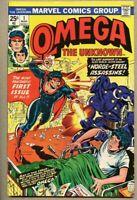Omega The Unknown #1-1976 fn+ 6.5 Ed Hannigan Joe Sinnott Marvel