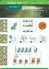 Safety Card - Aer Lingus - A330 200 - Issue 3 - 10/06 (S4192)