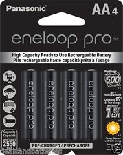 Newest Panasonic Eneloop Pro 4 Pack AA NiMH 2550mAh Rechageable Batteries