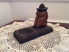 Vintage Carved Wood Man Sleeping Sombrero Ashtray