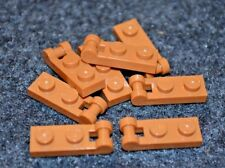 (8) 2x1 Orange - Brown Lego Plate w/ Handle Bricks - NEW Parts