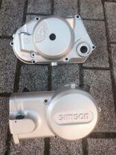 Simson Motor Seitendeckel mit Drehzahlmesser Links u.Rechts Neu !Silber,einmalig