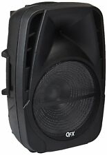 "QFX PBX-BF15 15"" Rechargeable PA Speaker w/Bluetooth/FM/USB/TF/AUX/Remote"