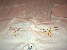 Juniors SO  White Jeans Size 9 Style KH7282BB83 Cut 606590