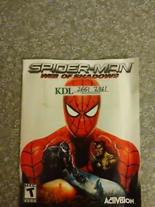 PLAYSTATION 3 SPIDER-MAN WEB OF SHADOWS INSTRUCTION MANUAL *NO GAME INCLUDED*