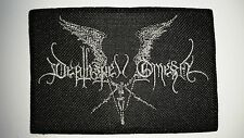 DEATHSPELL OMEGA  SILVER   LOGO  EMBROIDERED  PATCH