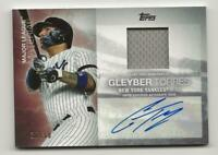 2020 Topps Update GLEYBER TORRES ML Material Relic Jersey Auto 30/50 Yankees