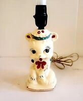 Vintage Porcelain Adorable Lamp Nursery Childrens Room Baby