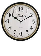 Acctim Manor  Vintage Style Wall Clock Gloss Black Gold bezel 30 cm  22053