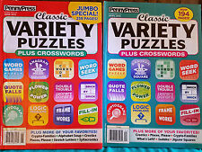 2 Classic Variety Puzzles + Crosswords Books 2016 issues--$13.98 retail price