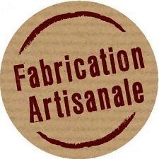 """40 étiquettes autocollantes """"Fabrication Artisanale""""."""