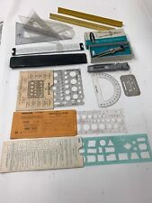Large Lot Of Drafting Tools, Slide Rules, Templates & More