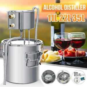 Large Alcohol Distiller Pure Water Moonshine Still Spirits Brewing Wine Maker UK
