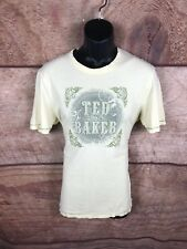 Ted Baker T Shirt Yellow Men Size 4 (a99)