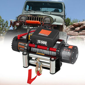 VEVOR 12v 13500lbs Electric Winch Wireless Remote Heavy Duty Steel Cable 4x4 Car
