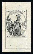 santino incisione 1600 S.RUPERTO DI SALZBURG.  j.callot