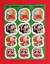 12 Vintage Critter Sitters Scratch & Sniff Smelly TREND Stickers Watermelon