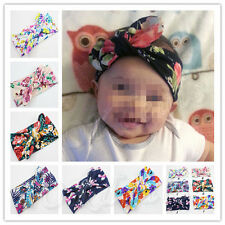 Baby Kids Girl Flower Bow Hairband Turban Knot Rabbit Headband Headwear Newest