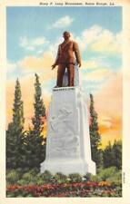 BATON ROUGE, LA Louisiana  HUEY P LONG MONUMENT  c1940's Curteich Linen Postcard