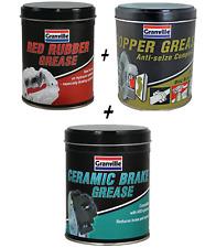 Copper Grease 500g & Red Rubber Grease 500g & Ceramic Brake Grease 500g Granvile