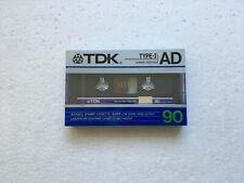 TDK AD 90 vintage audio cassette blank tape sealed Made in Japan Type I