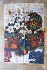 """New listing Garden flag 38"""" x 26"""" Spring Flowers printed on both sides"""