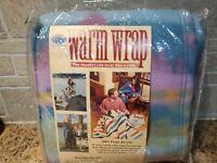 Vtg New Beacon Warm Wrap Blanket Robe Western Pastels 64x72 100% Virgin Acrylic