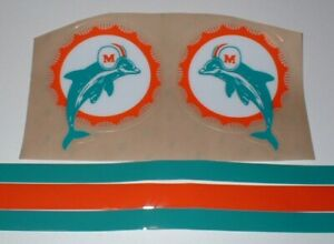 MIAMI DOLPHINS FULL SIZE FOOTBALL DECALS