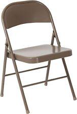 Flash Furniture  Double Braced Beige Metal Folding Chair New