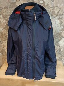 Superdry  Women's double windcheater jacket size XL Blue color hooded