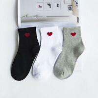 New Fashion Harajuku Women Cotton Long Socks Novelty Love Heart Pattern Socks