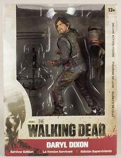 """The Walking Dead Daryl Dixon sangriento SURVIVOR EDITION 10"""" Deluxe Figura Serie De Tv"""