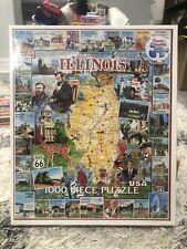 White Mountain 1000 Piece ILLINOIS Jigsaw Puzzle NEW SEALED USA #205