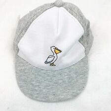 Janie And Jack NWT Baby Boy's 6-12 Month Baseball Cap Grey And White