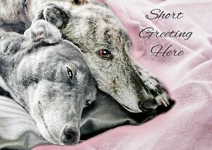 Personalised Greyhound Whippet Anniversary Engagement Birthday Any Occasion Card