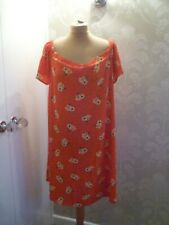 NEW LOOK Curves orange print dress size 22