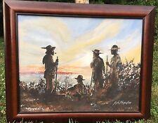 Original Vintage Painting Pioneer Midwest 1979 Guyla Blackwell