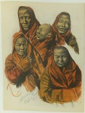 Alexandre Iacovleff La croisière jaune lithographie 1931 1932 Asie