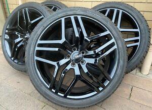 "22"" BLACK WHEELS LAND ROVER RANGE ROVER Sport Vogue Wheels RIMS 95% TYRES"