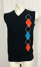 Abacus Argyle Vest Mens Size 40 Black
