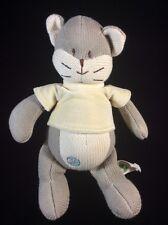 """My Natural Kitty Cat Knit Plush Soft Toy Stuffed 10"""" Animal"""
