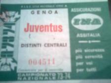 BIGLIETTI STADIO ANNI '70/'80 - JUVENTUS - GENOA