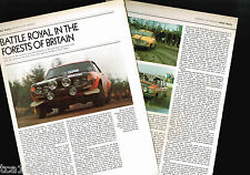 Old BRITISH RAC RALLY Article / Photo's / Pictures: R.A.C.,SAAB 96,CELICA,
