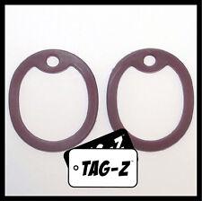 2 Brown Dog Tag Silencers - Military GI Silencer - Tag-Z