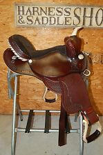 "16"" GW CRATE BEAR TRAP BARREL RACING SADDLE CUSTOM AMERICAN MADE FREE SHIP NEW"