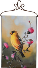 Golden Afternoon Birds ~ Yellow Finch Wall Hanging