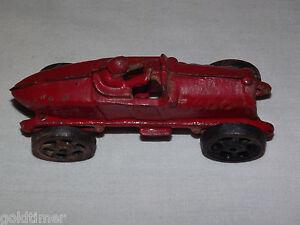 "VINTAGE CAST IRON ROAD RACER  5"" TOY CAR"
